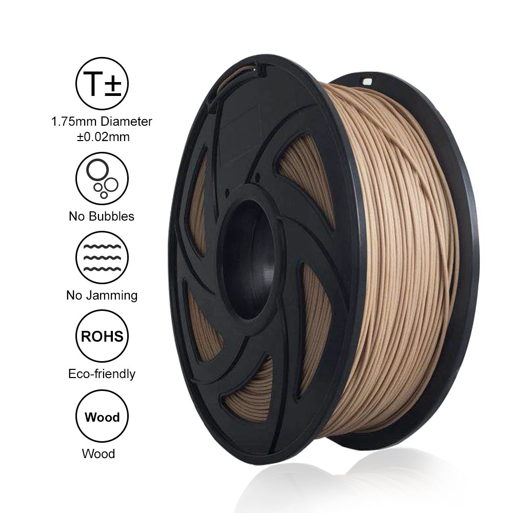 Free shipping Tronxy 3D Printer Parts WOOD 1.75mm Filament 3D Printing MaterialsFree shipping Tronxy 3D Printer Parts WOOD 1.75mm Filament 3D Printing Materials