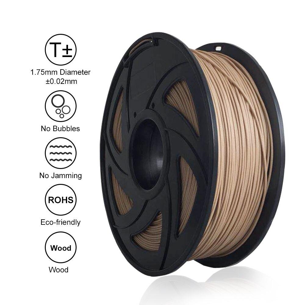 Livraison gratuite Tronxy 3D Imprimante Pièces BOIS 1.75mm Filament 3D Impression Matériaux