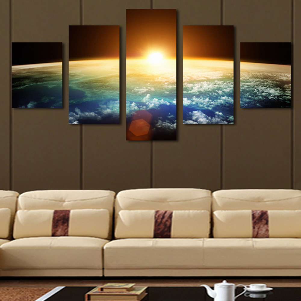 5Pcs//Set Modern Flower Canvas Painting Wall Art Home Room Decor Picture Unframed