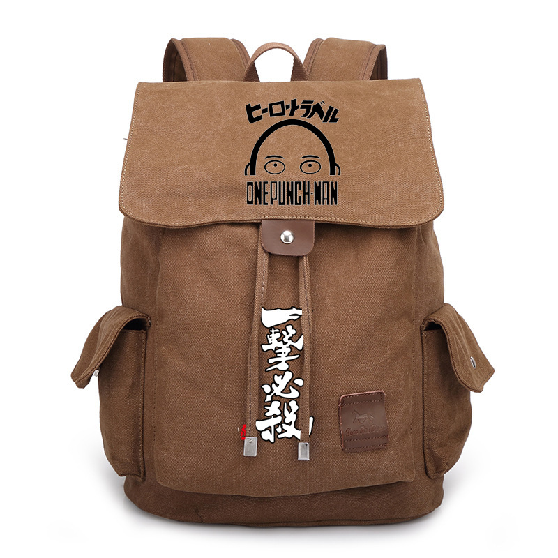 847a7e70abbb Japan Anime One Punch Man Bag Backpack Rucksack Travel Canvas Book ...