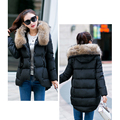 2017 New arrival women down jackets 5 colors hooded jaquetas feminina irregular hem stand up collar warm Korean winter jacket