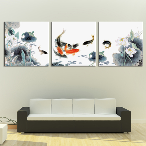 Online get cheap black koi fish alibaba for Koi canvas art