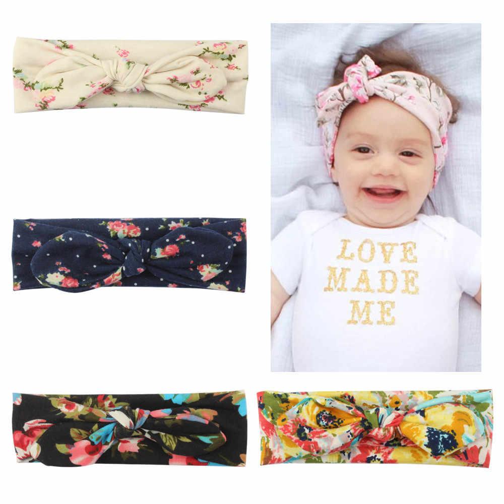 MUQGEW новорожденных малышей повязка лента эластичная голову ребенка детская одежда для девочек Кролик уха Лук Hairband повязка на тюрбан голову #6-7