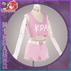 Image 5 - UWOWO Game LOL Cosplay K/DA  Akali Cosplay Costume LOL KDA Women Halloween Costume Akali Costume Full Set Cosplay