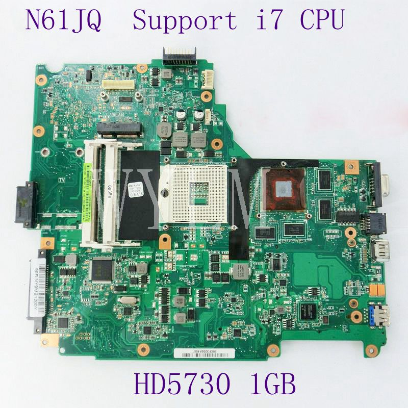 N61JQ Mainboard Support i7 CPU For ASUS N61JA N61JQ Laptop Motherboard REV2.1 HM55 HD5730 1GB DDR3 60-NY9MB1200-C03 Full Tested стоимость