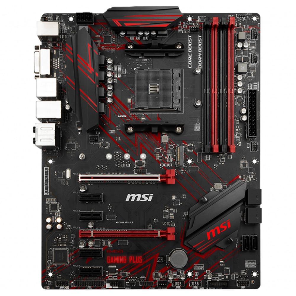 Original Motherboard For New MSI B450 GAMING PLUS DDR4 Socket AM4 64GB USB2.0 USB3.1 B450 Desktop Motherborad Free Shipping