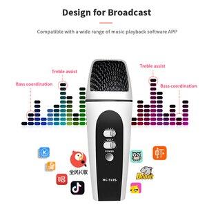 Image 3 - מקצועי Usb קול מחלף מיקרופון Wired ווקאלי קריוקי כף יד הקבל מיקרופון להקלטת וידאו חכם טלפון מיקרופון