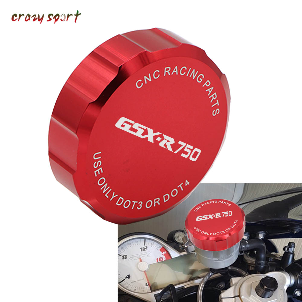 2018 Motorcycle Parts For SUZUKI GSXR750 GSX R750 GSXR GSX R 750 2000 2018 2017 Front Brake Fluid Reservoir Cover Cap With Logo-in Covers & Ornamental Mouldings from Automobiles & Motorcycles