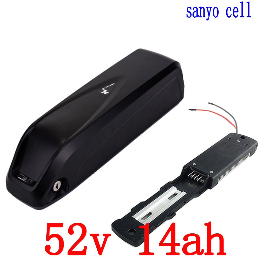 52V 500W 750W battery 51 8V electric bike battery 52v 14ah use sanyo cell lithium ion
