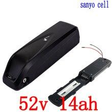 52 В 500 Вт 750 Вт аккумуляторной батареи 51,8 В электрический велосипед батареи 52 В 14ah использовать sanyo ячейки литий-ионный аккумулятор с 20A BMS и 58,8 В 2A зарядное устройство