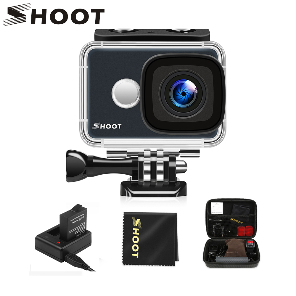 SHOOT T31 Waterproof WiFi 4K Action Camera 1080P 60FPS Ultra HD Cam with 170 Degree Wide