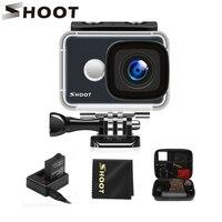 SHOOT T31 Водонепроницаемая WiFi 4K Экшн-камера 1080 P/60FPS ультра hd-камера с широкоугольным объективом 170 градусов для Go Pro Hero 7 5 6 Yi h9