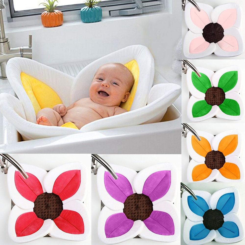 Baby Blooming Bath Flower Bathtub Mat Bath Cushion Infant