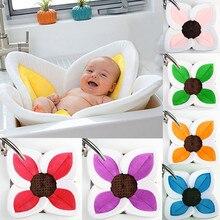 Детские банное Цветущая цветочная ванна коврик подушка для ванны новорожденных ванна для ребенка цветущие раковина младенческий душ сиденье аксессуары