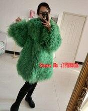 medio-largo abrigo mongolia mujer