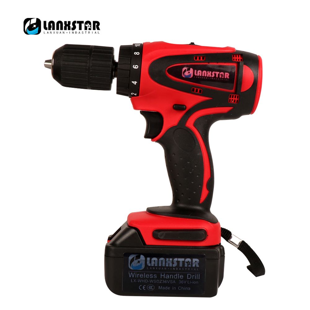 Cordless Electric Screwdriver Household Rechargeable High Power Electric Lithium Battery Wireless Power Driver 36 Volts DC