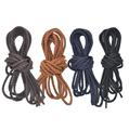Waxed Cotton Round Shoelaces faux Leather Waterproof Shoe Laces Men Women Martin Boots Shoelace Shoestring String