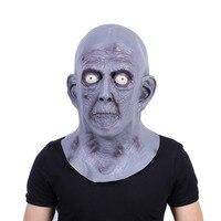 Scary Grau Alte Mann Masken Halloween Latex Partei Maske Ältere Kahl Cosplay Requisiten Karnevalskostüm Maske