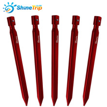 5pcs/lot 25cm Aluminum Tent Stake Outdoor V shape Tent Nail Large Tents awning special Peg Tent Accessories Equipment