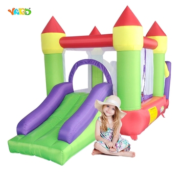 YARD Inflatable Bouncer Trampoline Castle With Slide Inflatable Games Jumping House Bounce House For Kids Party Ship By Express free shipping free logo printing outdoor inflatable bouncer house inflatable bouncer castle jumping castle for kids play