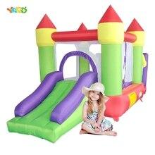 Батут замок надувной YARD с горкой, игровой домик для прыжков и прыжков, для детской вечеринки, Экспресс доставка