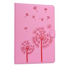 Pink dandelion pattern pu Leather flip Case For apple iPad mini2 3 4 ipad2 3 4 Air1 2 pro 9.7″case stand cover free shipping
