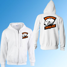 Gaming team virtus. pro vp zipper hoodies sweatshirt fliehen warme hoody mann mantel lässig clothing