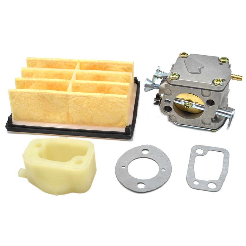 Air Filter Carburetor Intake Manifold Gasket Kit For Husqvarna 61 266 268 272 272XP Chainsaw Parts chainsaw clutch drum rim sprocket 3 8 7t needle bearing kit for husqvarna 61 66 162 266 268 272 jonsered 625 630