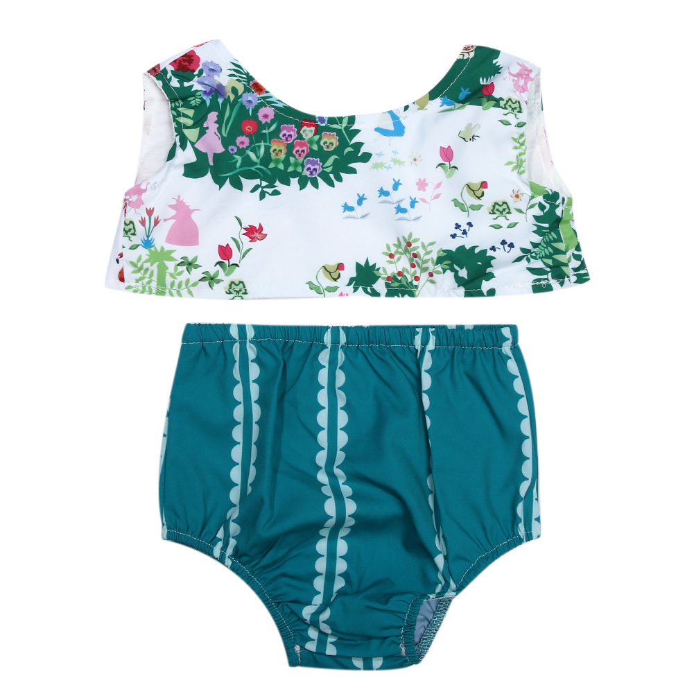 2pcs Newborn Baby Girls Clothes Floral Printed Sleeveless Short T-Shirts + Briefs Infant Clothing Baby Girl Summer Clothes