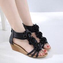 Women Summer Flower Gladiator Sandals