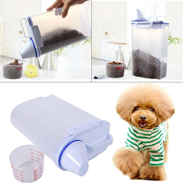 Pet Food Storage Containers Set Dog Cat Dry Food Dispenser Easy Pour With Cup Pet Supplies  sc 1 st  AliExpress.com & Pet Food Storage Containers Set Dog Cat Dry Food Dispenser Easy Pour ...