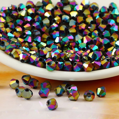 Free shipping! AAA 5301 Rainbow color 3mm 4mm 5mm 6mm 8mm  Crystal Glass Bicone Beads. free shipping aaa 5301 white opal color 3mm 4mm 5mm 6mm 8mm crystal glass bicone beads