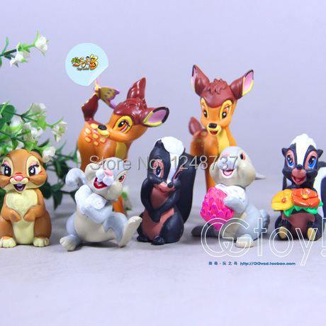 Bambi toys figurine, gifts for kids, classic toys for retail, children toys, animal figures, deer toys toys for tots