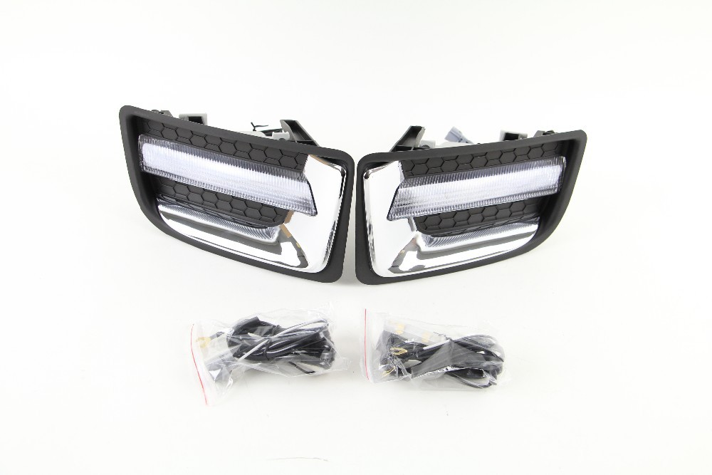 led drl daytime running light fog lamp for ISUZU D-max 2014 2015, wireless control, top quality for isuzu emps iii 2014