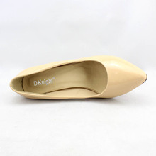 Sexy Pointed Toe Women High Heels Shoes Elegant Patent Shallow Mouth Thin Heels Women Pumps Size 34-48 Shoes Woman Ladies Pumps