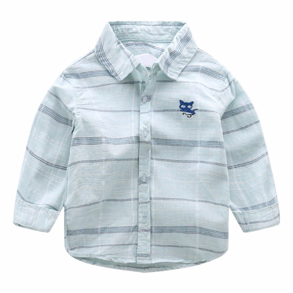 New Spring Autumn Solid Casual Shirts 100% Cotton Shirt for Boy Long Sleeve Shirts Boys Clothes for boys 2-6 Y