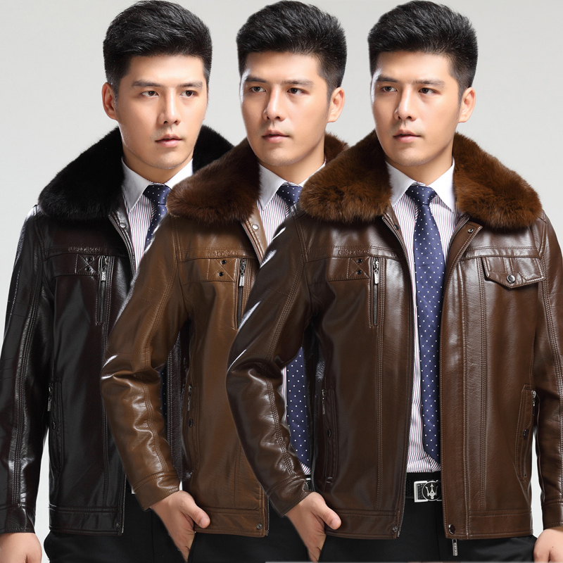New Arrival font b Men s b font font b Leather b font Clothing Brand font
