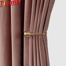 Velvet Curtains Bedroom Blackout Living-Room for Holland Soft Multi-Color W-HM038 Breathable