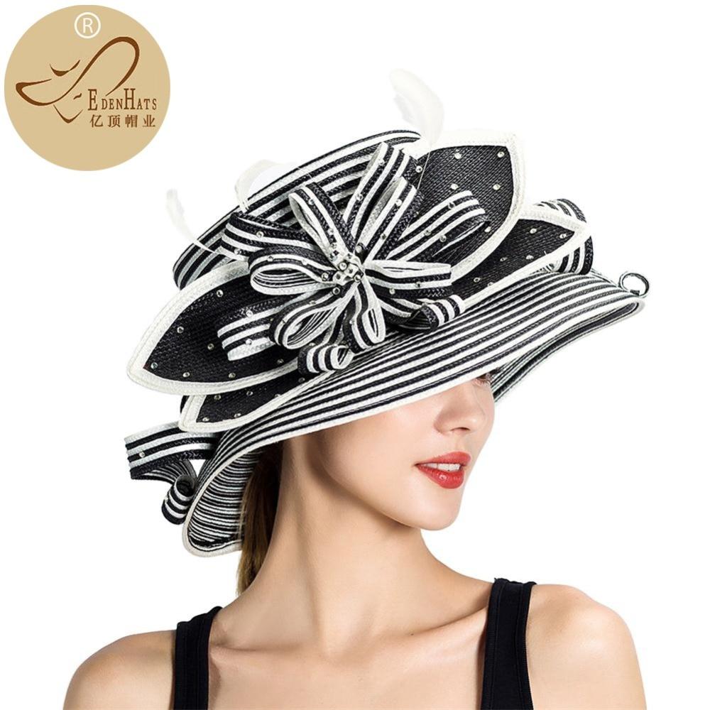 Wedding Kentucky Derby Church Downton Abbey Feather Braided Hat Fancy Hat Races Hat S10-3704