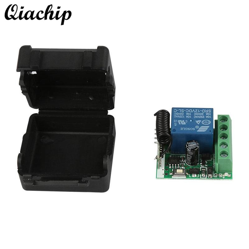 QIACHIP DC 12V 1CH 433MHz Universal Wireless Remote Control Switch RF Relay Receiver 433 MHz Transmitter Button Module Diy Kit new 1ch 7v 12v 24v dc relay module switch wifi rf 433mhz wireless remote control timer switches for light work by phone