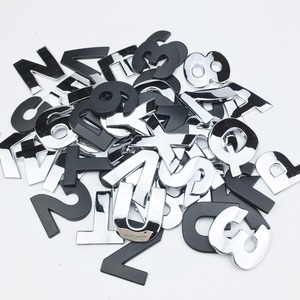 Image 5 - Car Styling 3D Metal personality Letters Number Emblem Chrome DIY Car Sticker Badge Auto Logo Accessories Motorcycle sticker