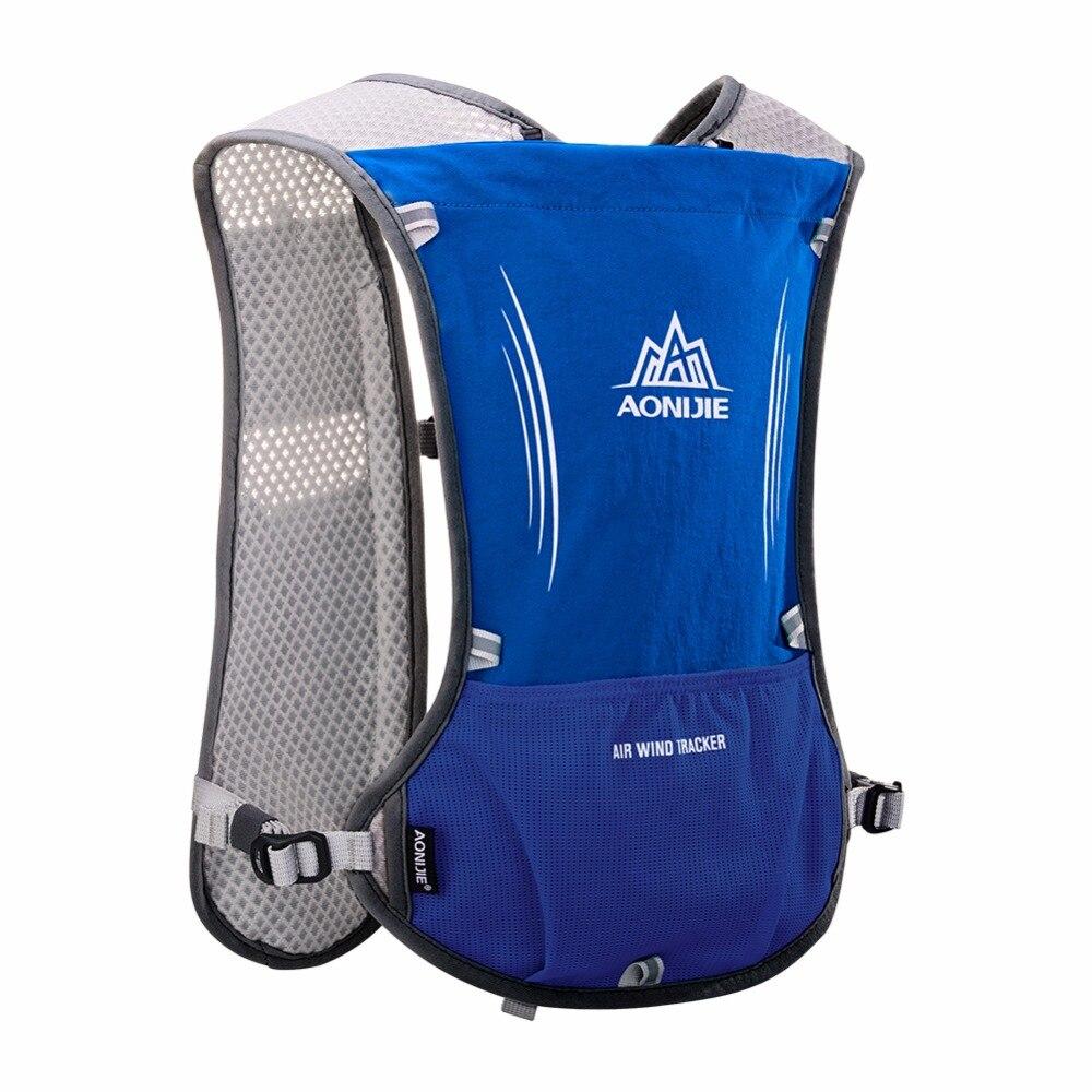 AONIJIE hombres mujeres corriendo mochila al aire libre de Deportes de pista de carreras de senderismo maratón Fitness hidratación chaleco paquete 1.5L bolsa 500 ml hervidor de agua - 2