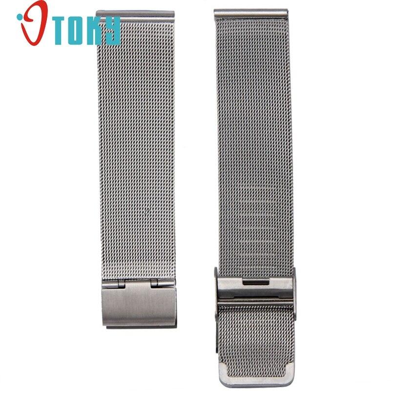 1cb3af0a502 Excelente Qualidade 18mm Luxo Milanese Laço cinta Fecho Ligação Pulseira de  Aço Inoxidável Banda Ajustável Relógio De Pulso Pulseira
