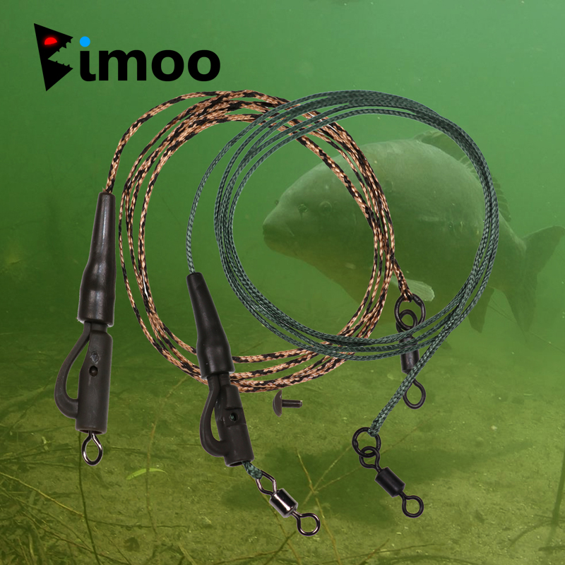 Bimoo 2pieces Readymade Carp Fishing Chod Rig Terminal Tackle Set For Carp Fishing Safety Clip Helicopter Swivel Link Leader