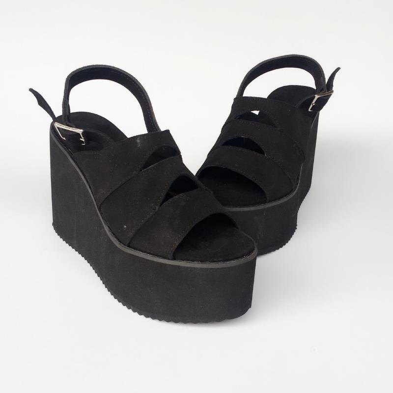 Moda Princesa Todo Partido Cuero Cómodo De Versión Negro Y Mujeres An7546 Zapatos Altos Tacones Coreana Lolita Dulce T6SxrT