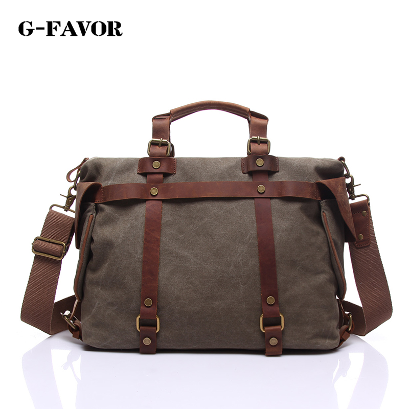 new fashion high quality canvas leather handbags men casual large capacity travel bags vintage canvas messenger bags men стоимость