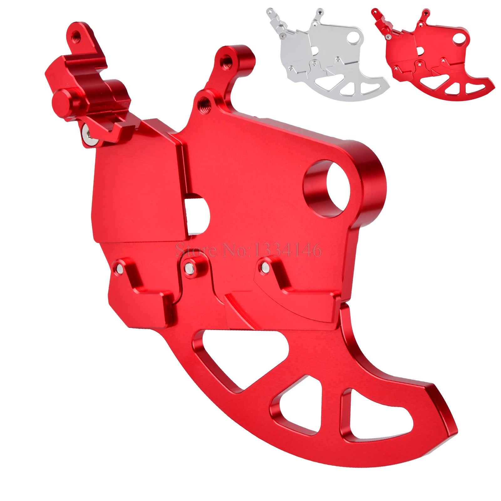 NICECNC Motorcycle Rear Brake Disc Guard Protector For Honda CR125 CR250 CRF250R CRF250X CRF450R CRF450X 2002-2017 2018 CRF 250R red cnc pivot brake clutch levers for honda crf 250r 450r crf250r crf450r 2004 2006 crf 250x 450x crf250x crf450x 2005 2016