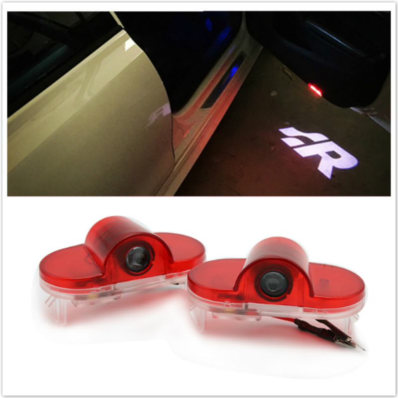 2pcs Car laser projector Logo Ghost Shadow welcome door Light For Volkswagen VW Golf 4 Touran Caddy Beetle Bora 2003 2006 2008 for skoda octavia led 3w welcome car door logo lights projector laser ghost 3d shadow accessories original door light replace