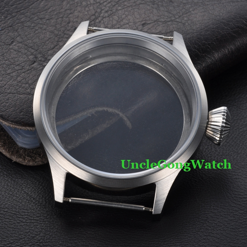 где купить Watch Parts , 43mm Stainless Steel Case Fit for ETA UNITAS 6497/6498 Movement, Sapphire Glass Watch Cases SC4303 по лучшей цене