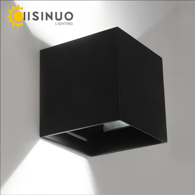 Modern Brief Cube Adjustable Surface Wall Lamp Mounted 6W LED  Outdoor Waterproof IP65 Aluminum lights Garden Light Sconce